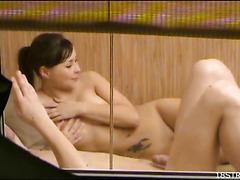 Watch banging in a sauna