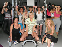 Those older ladies love to exercise bare