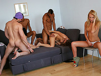 Penis-hungry college chicks have a blast