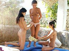 Three lesbian friends
