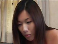 Japanese chicks gets hairy twats rubbed by a dude