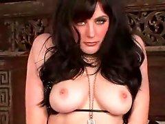 Seductive solo girl in boyshort panties