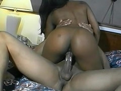 Let the game begins, as this nasty, ebony hooker take the chance of...