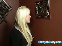 Big stacked blonde slut confesses through gloryhole