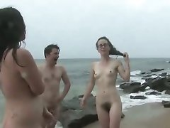 Nasty aussie beach masturbation