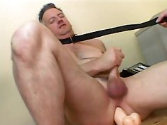 Dominant Female Fucks a Submissive Guy With a Dildo and Sits On His Face