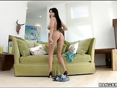 Beauty rides up fat dick