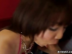 Sexy Oriental whore gets a fill of cum in her mouth.