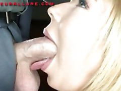 Petite Golden-Haired Legal Age Teenager Swallows Dick