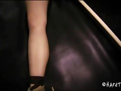 Hawt hot gal in bondage action