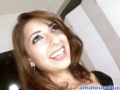 Petite College Sweetheart Blows Ramrod and Swallows Jizz