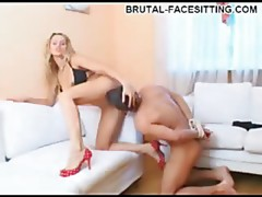 Ripped thrall gratifying mistress