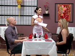 Delicious Brunette Yurizan Beltran Gets Fucked At a Chinese Restaurant