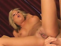 She is one sexy blonde chick who loves to get her asshole screwed by...