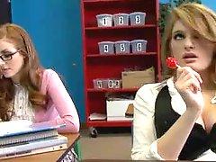 Bi Students Seduce Their Teacher In A Classroom