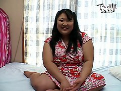 Cute japanese bbw masturbating