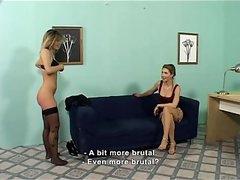 Horny slut gets her ass spanked hard