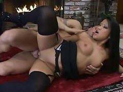 She is this Asian black widow bitch who enjoys getting her cunt hole...